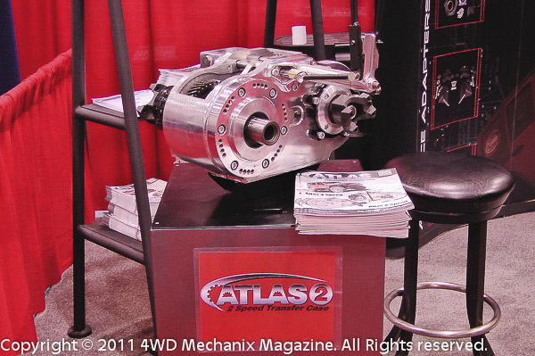 Atlas II transfer case on display at Advance Adapters' 2011 SEMA Show booth!