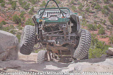 Rock crawling through Area BFE at Moab, Utah