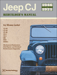 Click here for access to the Bentley Publishers website and information about the 1946-71 CJ Jeep Rebuilder's Manual by Moses Ludel.