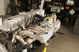 4.6L stroker inline Jeep six-cylinder engine ready for a YJ Wrangler