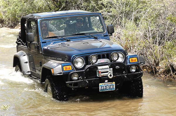 Dan's TJ Wrangler Rubicon deeper in the stream