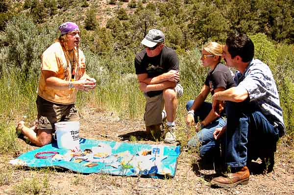 Cody conducting our survival school in the field.