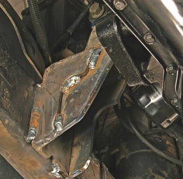 Install a V-8 or even a six can require motor mount fabrication